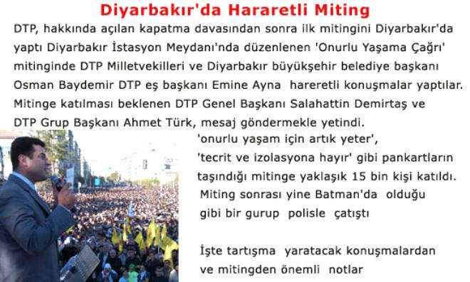Diyarbakır'da Hararetli Miting