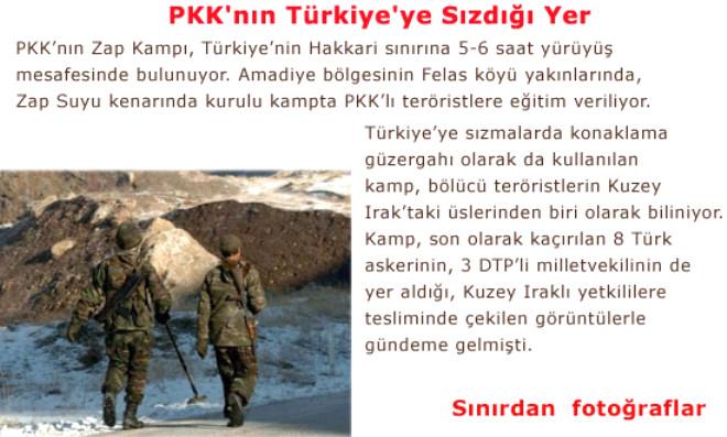PKK'nın Türkiye'ye Sızdığı Yer