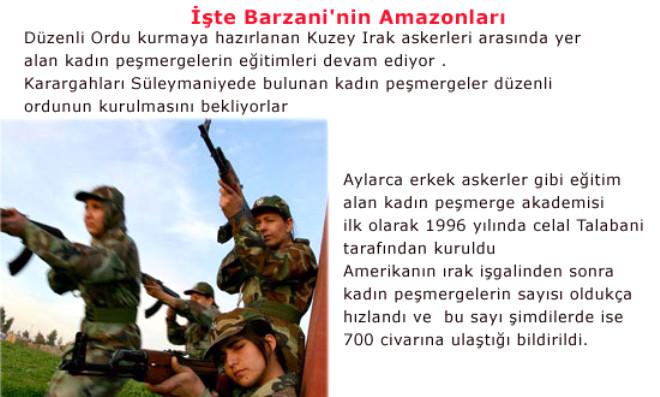 İşte Barzani'nin Amazonları