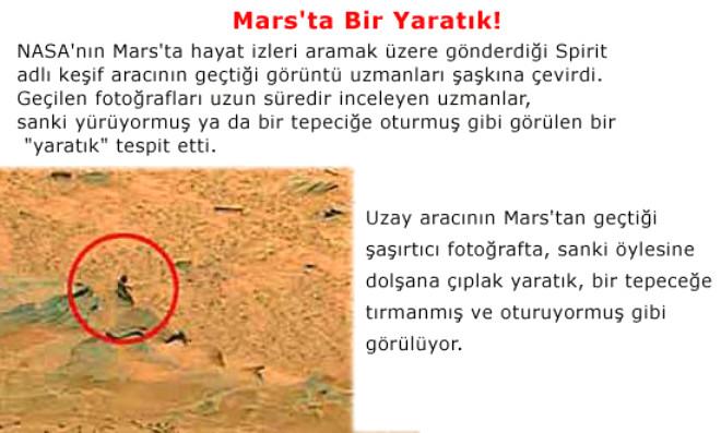 Mars'ta Bir Yaratık!