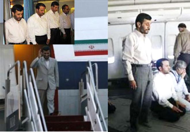 Ahmedinejad'ın uçağından ilk kareler