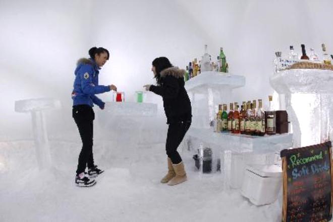Buz Otelde Sauna Keyfi