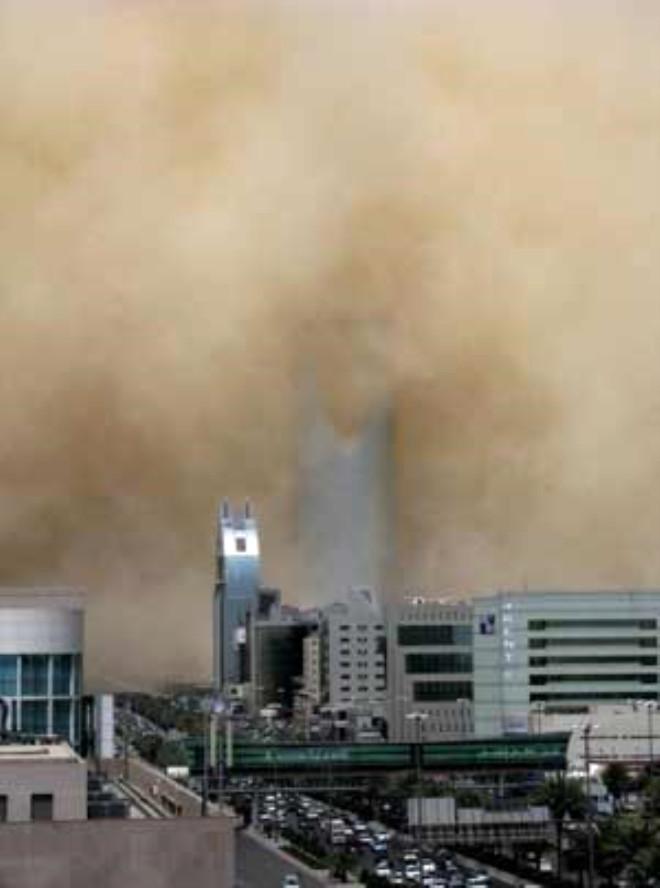Riyad'ı Kum Kapladı