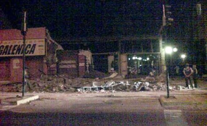 Şili Depreminden İlk Fotoğraflar