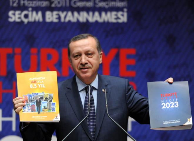 Erdoğan AK Parti Seçim Beyannamesini Açıkladı