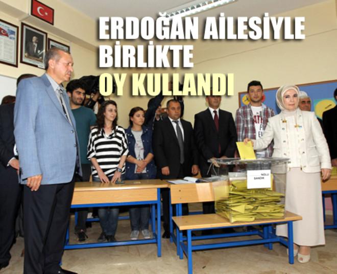 Erdoğan Ailesiyle Birlikte Oy kullandı