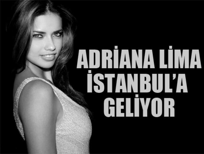 Adriana Lima Cuma Günü İstanbul'da