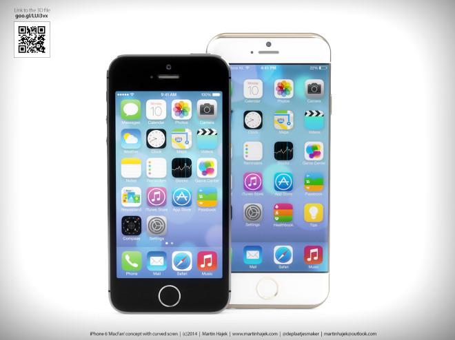 İphone 6 Konsepti İphone 5s'in Karşısında