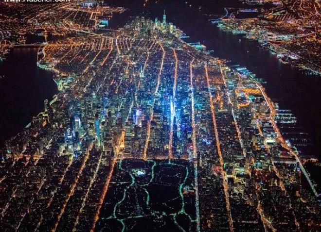 New York, Gece Vakti Kuşbakışı Nasıl Görünüyor?