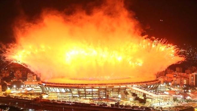 Fotoğraflarla: Rio 2016 Açılış Töreni