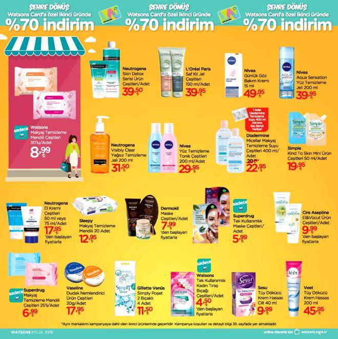 Watsons Eylül ayı indirimli ürünler kataloğunu yayınladı
