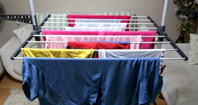 Çamaşırlar evde kurutulur mu?